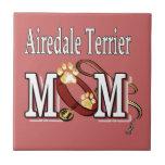 Mamá de Airedale Terrier Tejas Cerámicas