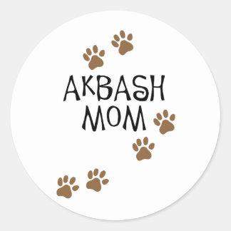 Mamá de Akbash Pegatina Redonda