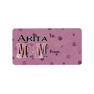 MAMÁ de Akita Etiqueta De Dirección
