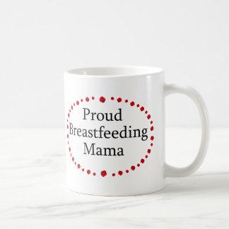 Mamá de amamantamiento orgullosa rosas rojos taza