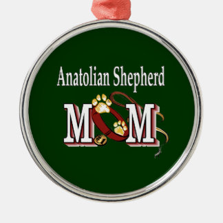 mamá de Anatolia del pastor Adorno Navideño Redondo De Metal