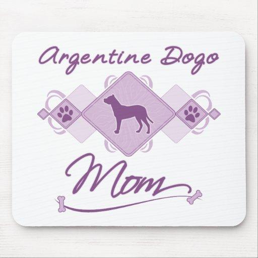 Mamá de Argentina Dogo Tapetes De Ratón