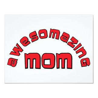 Mamá de Awesomazing (1) Invitaciones Personalizada