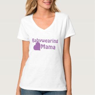 Mamá de Babywearing - púrpura Playera