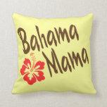 Mamá de Bahama con el hibisco Cojin