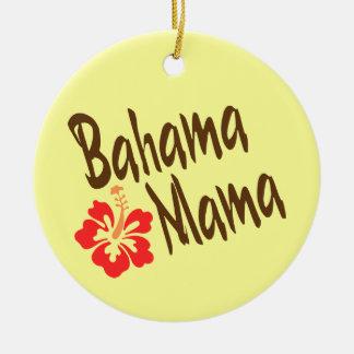 Mamá de Bahama con el hibisco Adorno De Navidad