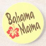 Mamá de Bahama con el hibisco Posavasos Personalizados
