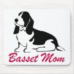 Mamá de Basset Hound Tapetes De Ratones