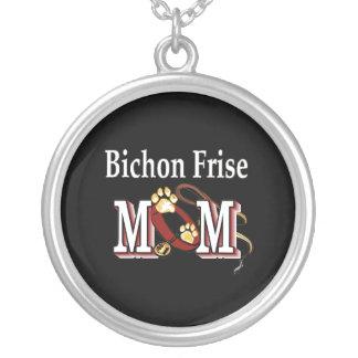Mamá de Bichon Frise Colgante Redondo