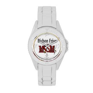 Mamá de Bichon Frise Relojes De Mano