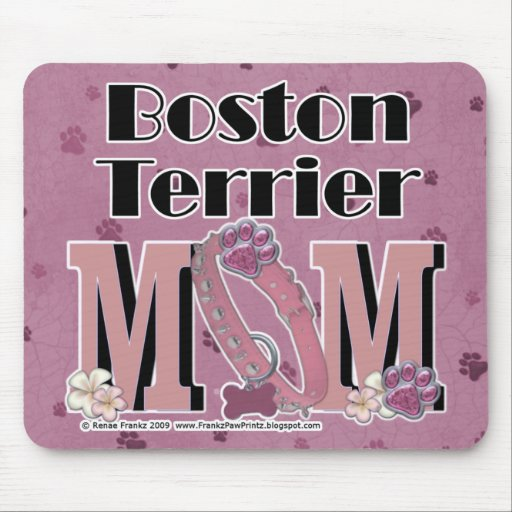 MAMÁ de Boston Terrier Alfombrilla De Ratones