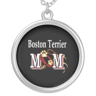 Mamá de Boston Terrier Colgante Redondo