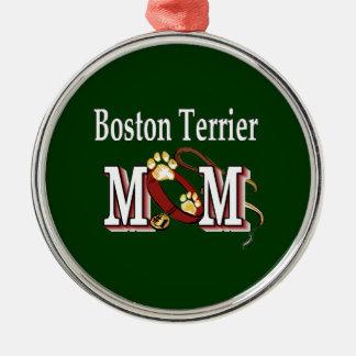 Mamá de Boston Terrier Ornamentos De Reyes