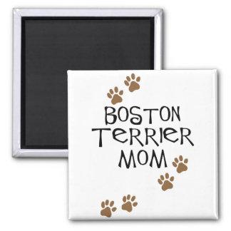 Mamá de Boston Terrier Imán De Frigorífico
