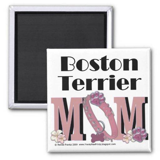 MAMÁ de Boston Terrier Iman Para Frigorífico
