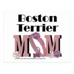 MAMÁ de Boston Terrier Postal