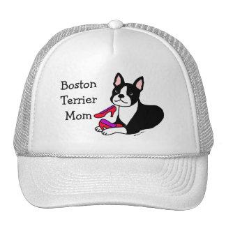 Mamá de Boston Terrier (regalos del día de madre) Gorras De Camionero