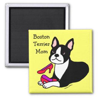 Mamá de Boston Terrier (regalos del día de madre) Imán