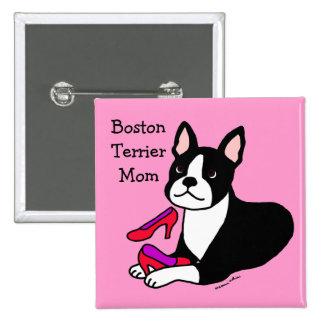 Mamá de Boston Terrier (regalos del día de madre) Pin