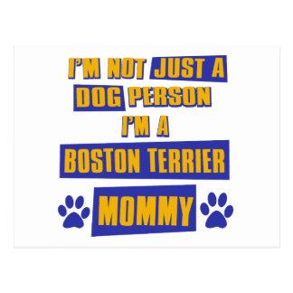 Mamá de Boston Terrier Tarjeta Postal