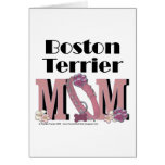 MAMÁ de Boston Terrier Tarjeton
