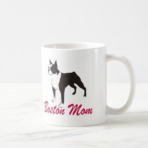 Mamá de Boston Terrier Taza