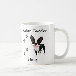 Mamá de Boston Terrier Taza De Café