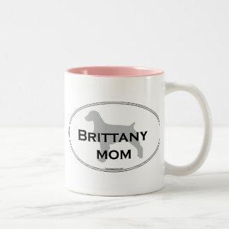 Mamá de Bretaña Taza De Café De Dos Colores