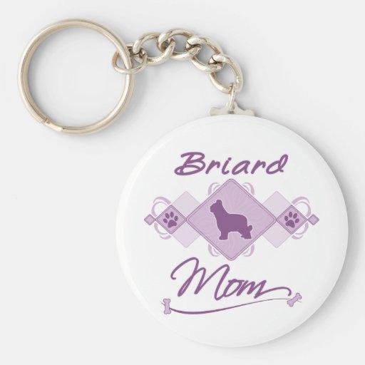 Mamá de Briard Llaveros Personalizados