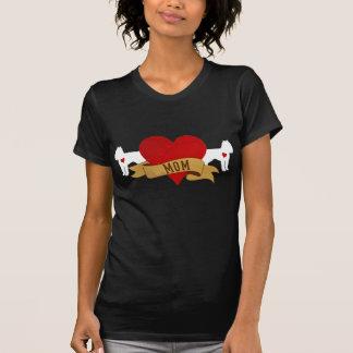 Mamá de Bruselas Griffon [estilo del tatuaje] Tshirt