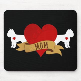 Mamá de Bruselas Griffon [estilo del tatuaje] Mousepad