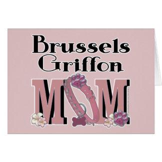 MAMÁ de Bruselas Griffon Tarjeta De Felicitación