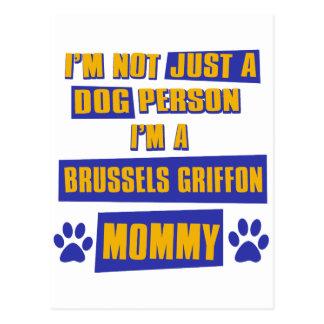 Mamá de Bruselas Griffon Tarjetas Postales