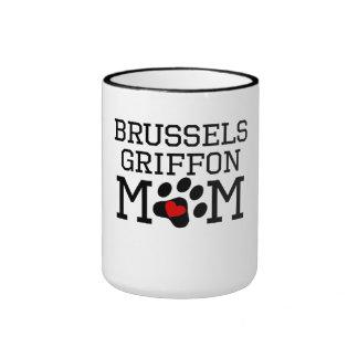 Mamá de Bruselas Griffon Taza A Dos Colores