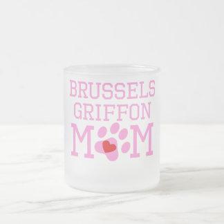 Mamá de Bruselas Griffon Taza Cristal Mate