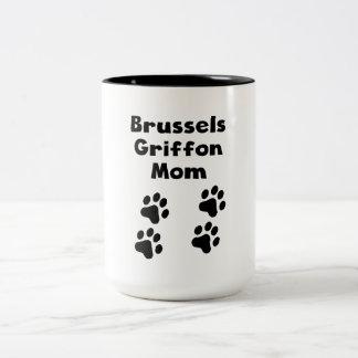 Mamá de Bruselas Griffon Taza Dos Tonos