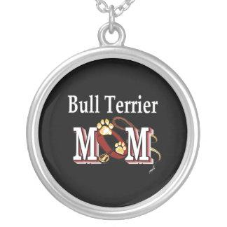 Mamá de bull terrier colgante redondo