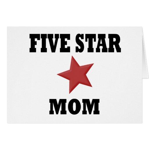 mamá de cinco estrellas tarjetón
