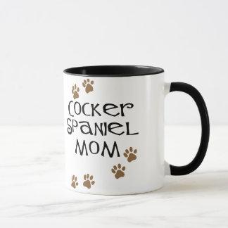 Mamá de cocker spaniel para las mamáes del perro