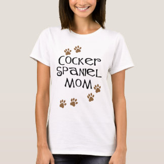 Mamá de cocker spaniel para las mamáes del perro playera