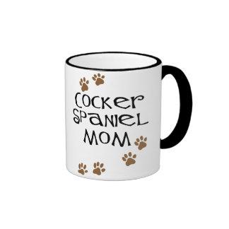 Mamá de cocker spaniel para las mamáes del perro taza a dos colores