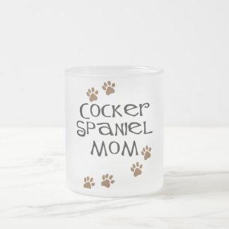 Mamá de cocker spaniel para las mamáes del perro taza de cristal