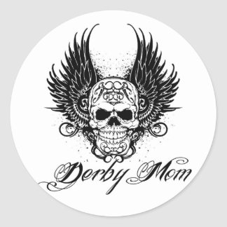 ¡Mamá de Derby! Pegatina Redonda