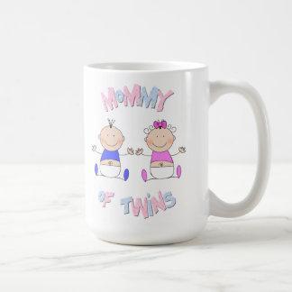 Mamá de gemelos taza de café