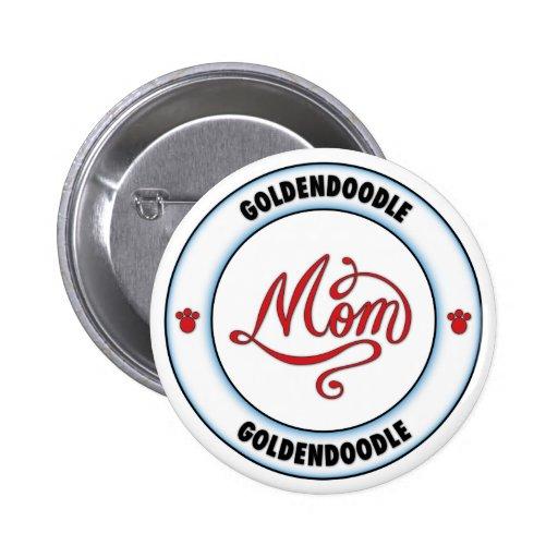 Mamá de GOLDENDOODLE Pin Redondo 5 Cm