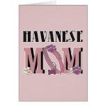 MAMÁ de Havanese Tarjeta De Felicitación