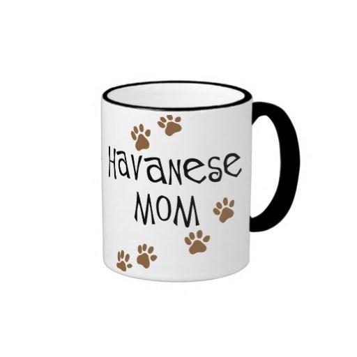 Mamá de Havanese Taza A Dos Colores