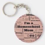 Mamá de Homeschool Llavero Personalizado