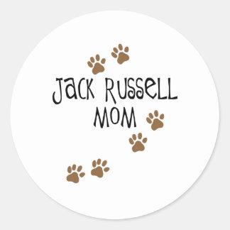 Mamá de Jack Russell Pegatina Redonda