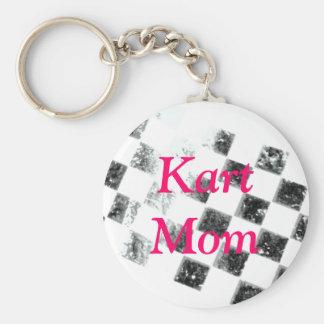 Mamá de Kart Llavero Redondo Tipo Pin